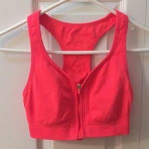 Coral colored Jockey racerback sports bra (sm/m)